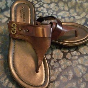 Cole Haan NWOB Bronze Brown Sandal Sz 6